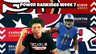 Reacting To Week 7 Power Rankings! Lions Still TOP 10! Detroit Lions Talk