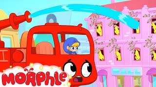 Firefighter Morphle - Trucks for Kids   Cartoons for Kids   My Magic Pet Morphle