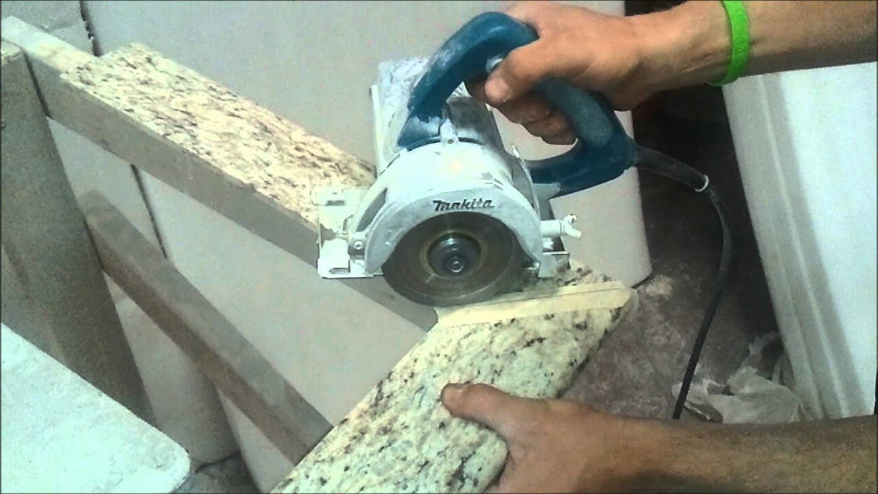Saw To Cut Granite Countertop How To Mitre Cut Granite Bullnose Tiles At 45 Degree