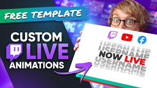 How To Make CUSTOM LIVE Animations For Your Twitch Stream!