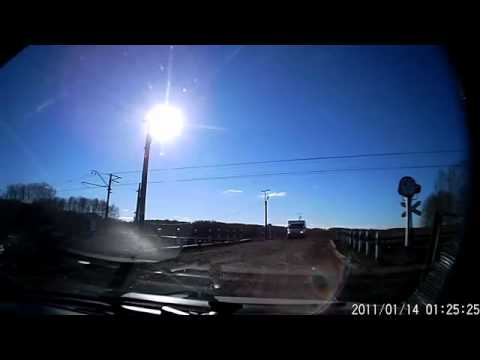 ДТП авария на железнодорожном переезде