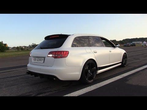 725HP Audi RS6 C6 V10 BiTurbo w/ Akrapovic - Start, Revs, Drag Racing!