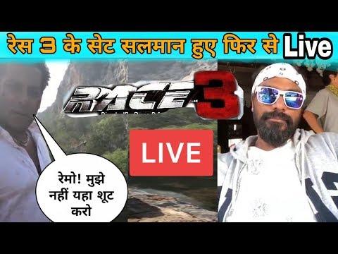 Salman Khan again on live set of Race 3 | Bangkok Shooting
