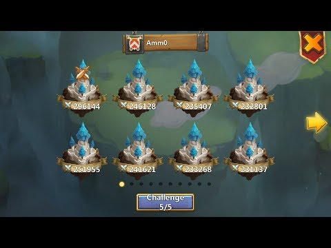Castle Clash - Extremely Easy Guild Wars Day - Minobombing Top 5