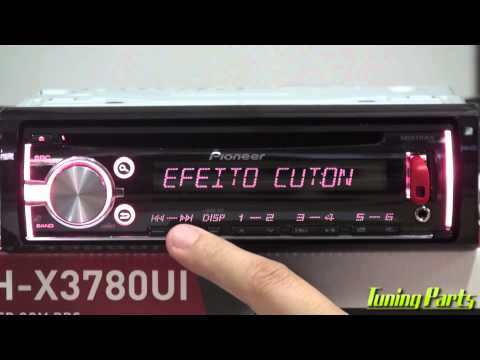 Pioneer DEH-X3780UI - CD Player com Mixtrax Linha 2015