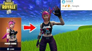 "Fortnite ""Power Chord"" Skin Is Back! (Fortnite New Item Shop)"