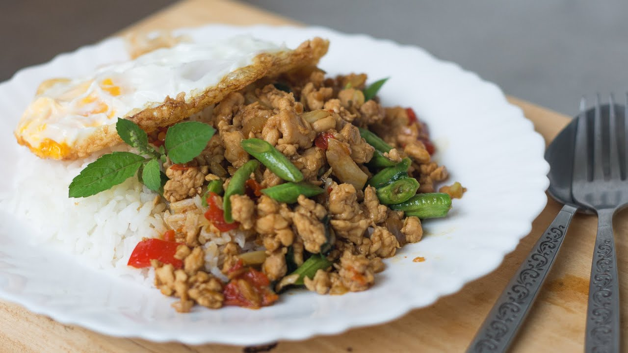 Thai Holy Basil Stir-Fry Recipe (Pad Gaprao) ผัดกะเพรา - Hot Thai ...