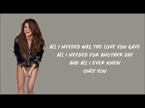Only You — Selena Gomez Lyrics (Originally by Yazoo)