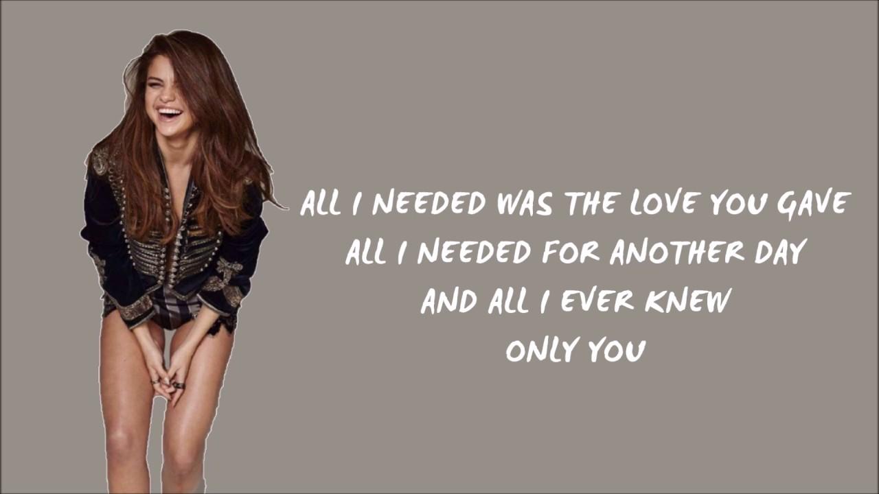 Only You — Selena Gomez Lyrics (Originally by Yazoo) - YouTube