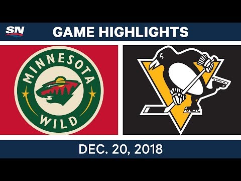 NHL Highlights   Wild vs. Penguins - Dec 20, 2018