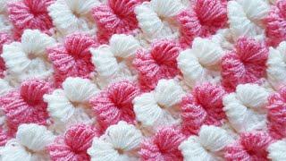 Kare kelebek lif battaniye modeli yapımı