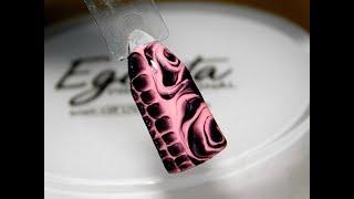 ТОП Красивый дизайн ногтей. Рисунок по мокрому 2017 новинки от мастера маникюра nail 2017