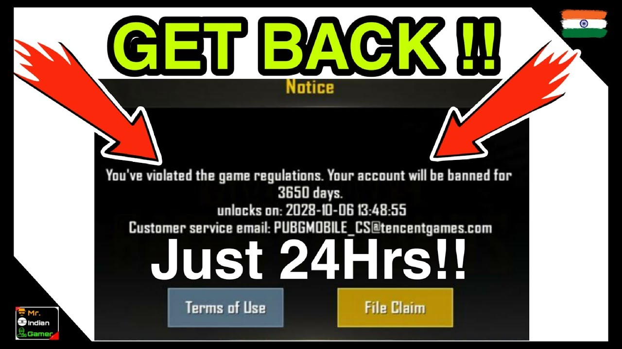How To Get Banned Or Hacked Account Back In PUBG MOBILE | Mr IG |
