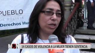 25/11/2015-20:07 14 CASOS DE VIOLENCIA A LA MUJER TIENEN SENTENCIA
