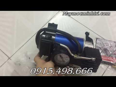 Bơm lốp mini chạy điện 220v tặng kèm túi xách