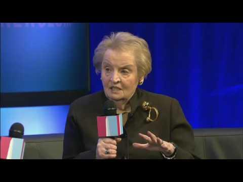 Madleine Albright and James Bennet / Washington Ideas 2012