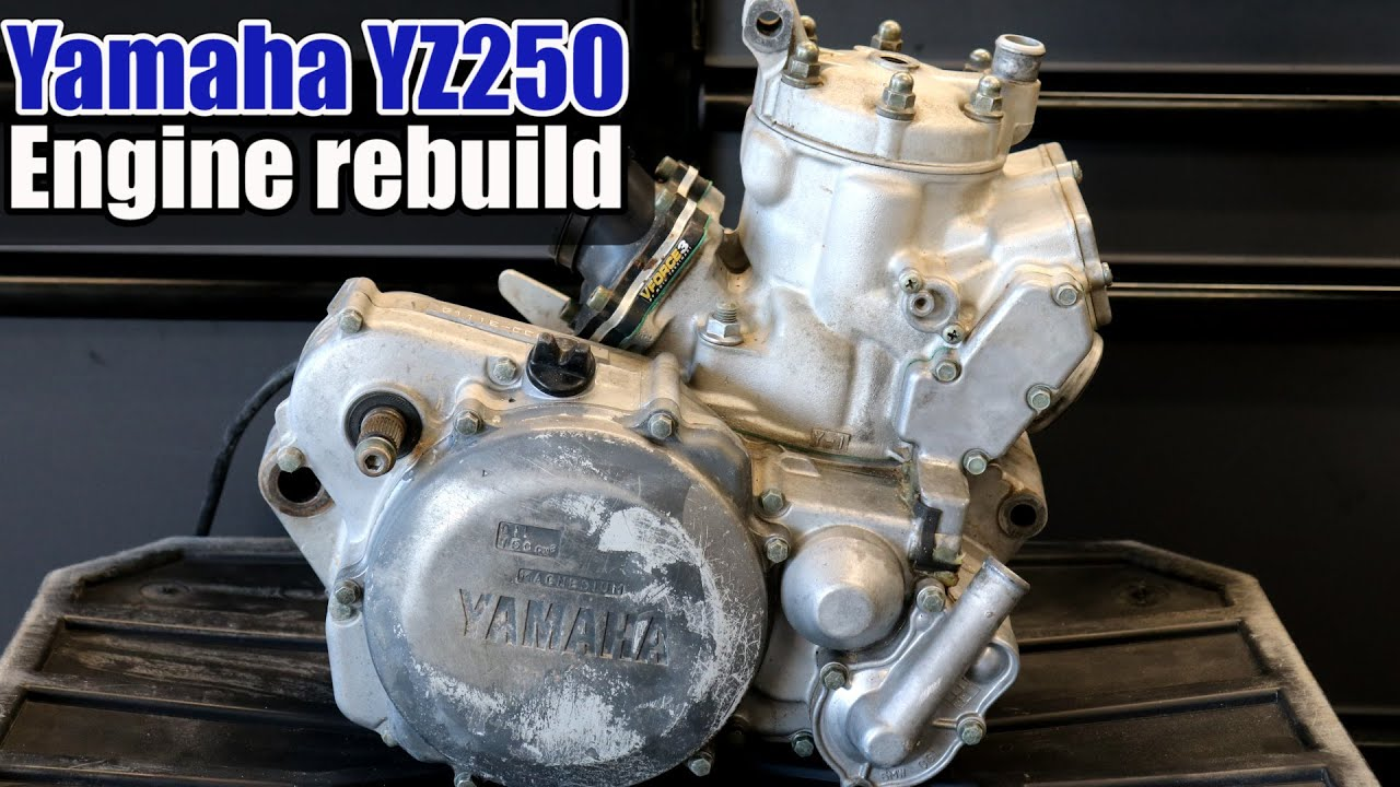 Yamaha YZ250 Six-Minute Full engine rebuild :-)