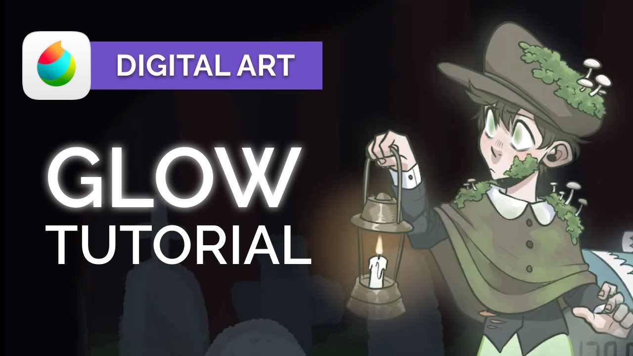 How to Create Realistic GLOWS 👻 Digital Art Tutorial - Medibang Paint Pro (step by step)
