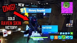 NEW RAVEN SKIN SOLO VICTORY!! Fortnite Battle Royale