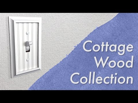 Amerelle Cottage Wood White Collection Decorative Wall Switch Plates