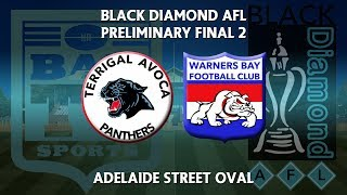 2018 Black Diamond AFL Cup Preliminary Final 2 - Terrigal Avoca Panthers v Warners Bay Bulldogs