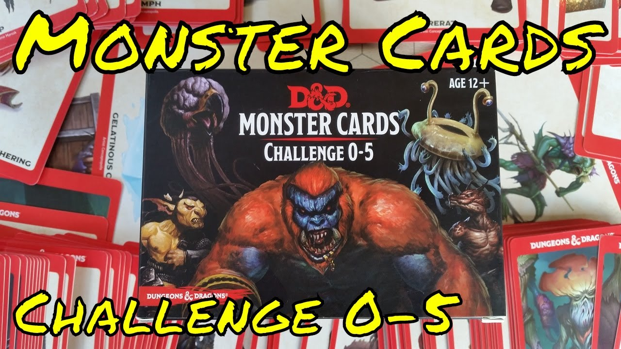 D&D Monster Cards Challenge 0 - 5 Review (Gale Force 9