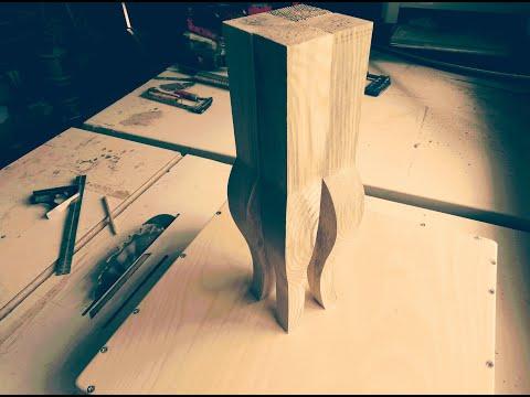 Шаблон изготовления ножки кабриоль ручным фрезером. Размеры.