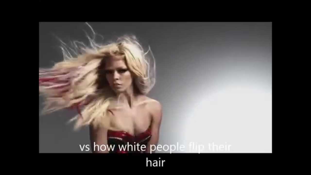 WHITE PEOPLE VS BLACK HAIR FLIP