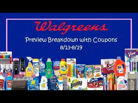 Walgreens Preview Breakdown w/ Coupons 8/13-8/19 2017