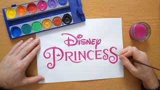 How to draw Disney Princess logo - coloring pages for kids, coloring book