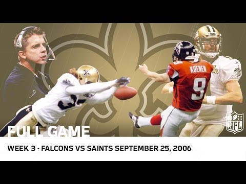 Saints Return to New Orleans After Hurricane Katrina (Week 3, 2006) | Falcons vs. Saints | NFL
