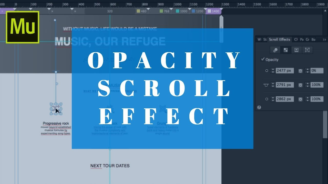 Master the Opacity Scroll Effect in less than 10 minutes   Adobe Muse
