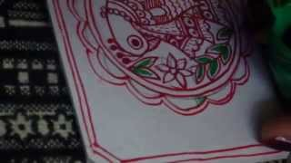 How to make Madhubani Painting by www.MithiArt.com