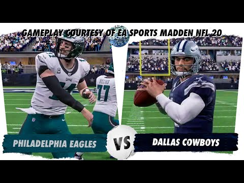 Eagles Vs Cowboys Madden Sim With 2020 Draft Picks And Free Agents!