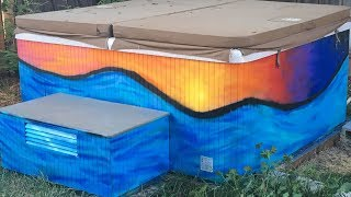 Spray Paint Hot tub!