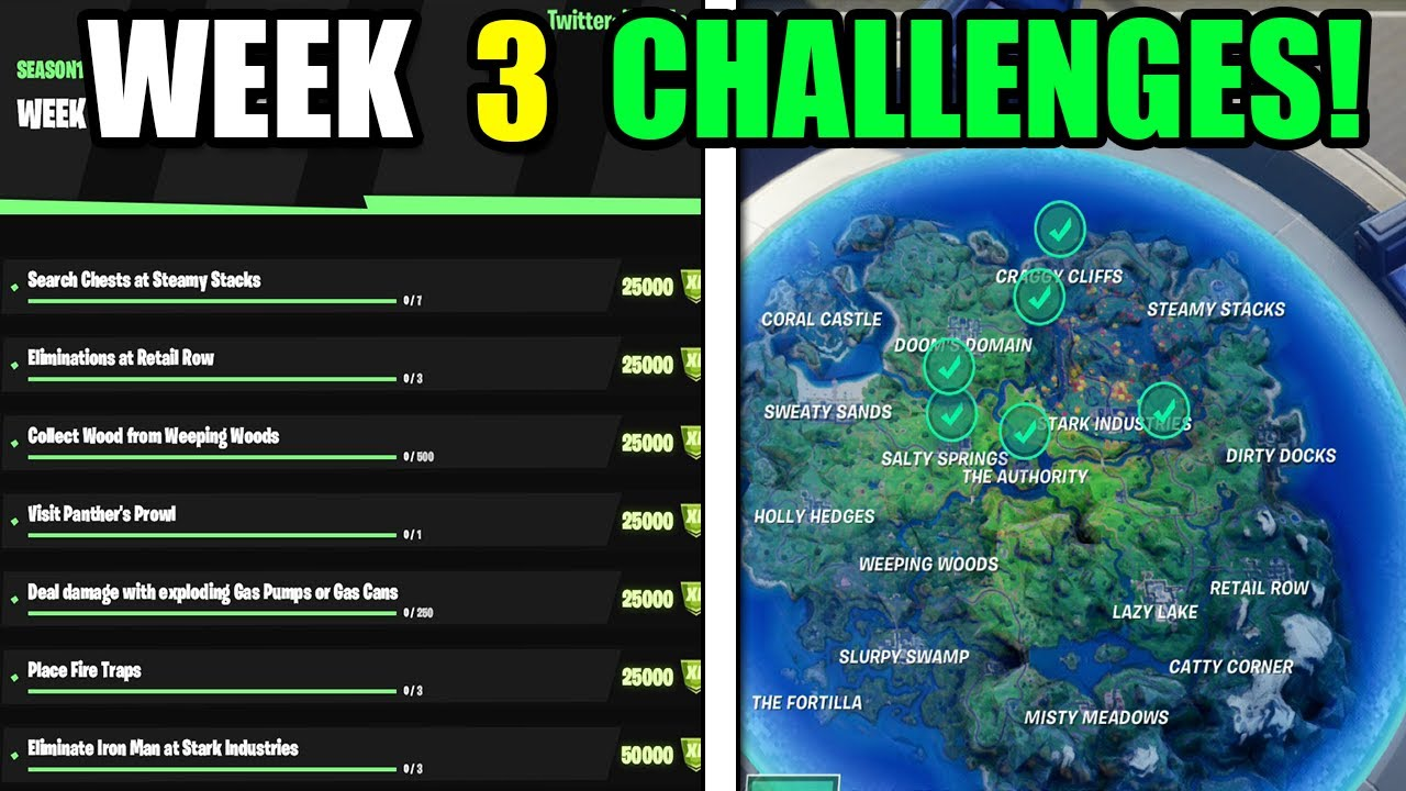 All Week 3 Challenges Guide! - How To Complete ALL Week 3 Challenges - Fortnite  Chapter 2 Season 4 - YouTube