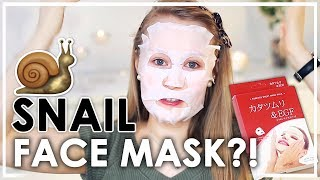 Japanese Snail Face Mask Review | Anna L