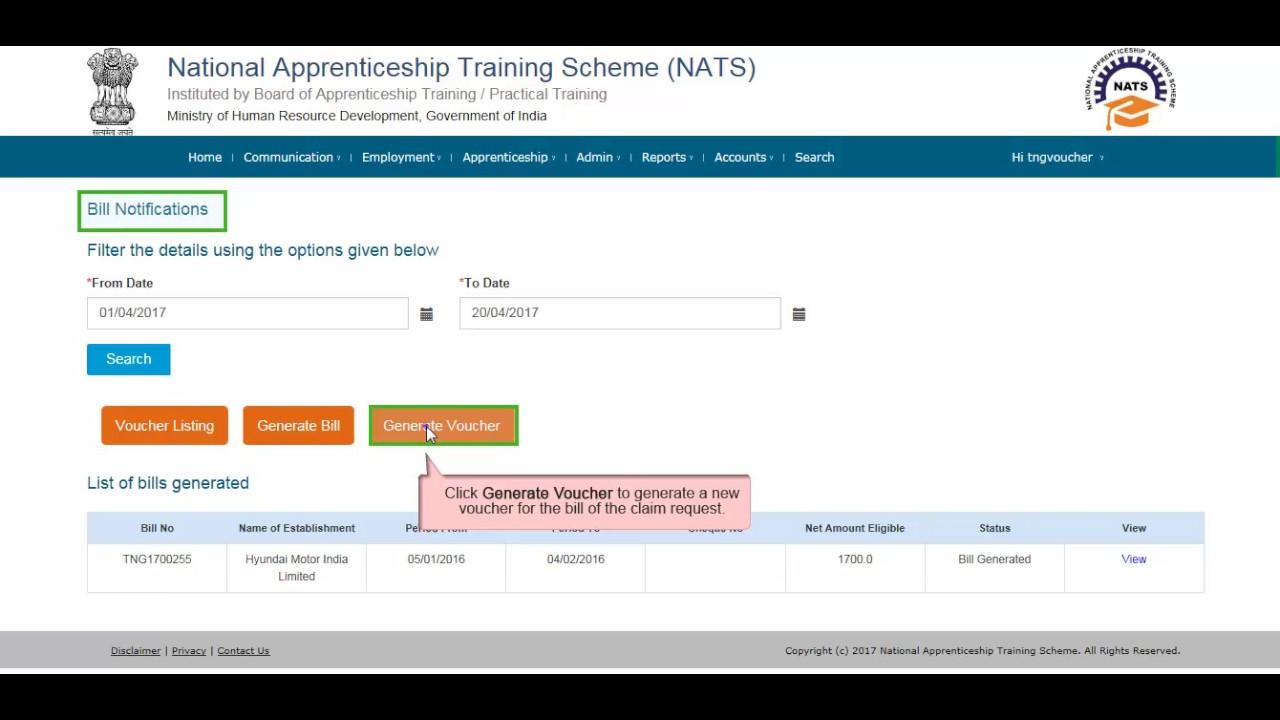 NATS Stipend Reimbursement Video Tutorial Voucher User