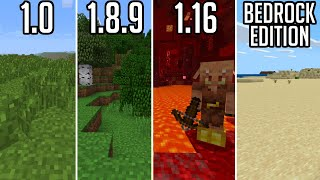 Beating literally every version of Minecraft