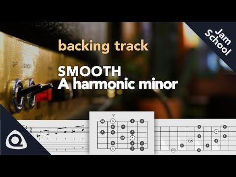 Smooth Enhanced Guitar Backing Track In A Harmonic Minor