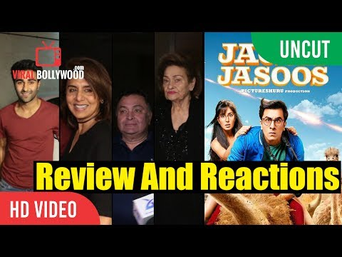 UNCUT - Jagga Jasoos Screening   Ranbir Kapoor, Rishi Kapoor, Neetu Singh, Krishna Raj Kapoor