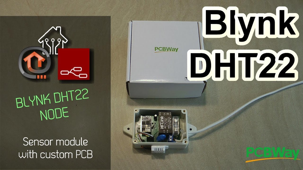 Blynk DHT22 sensor node with custom PCB