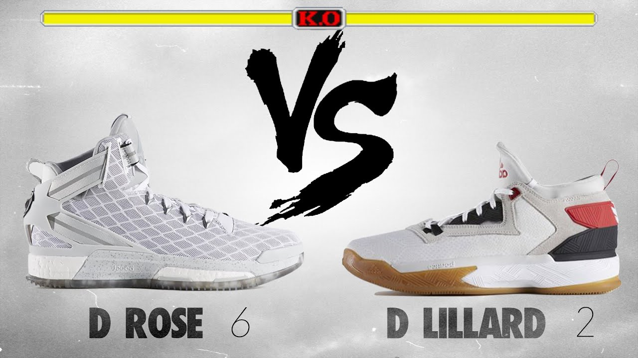 e3d6e18d4f32 Adidas D. Rose 6 vs. Adidas D. Lillard 2! - YouTube