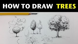 How to Draw Trees | Pen & Ink Drawing Tutorials