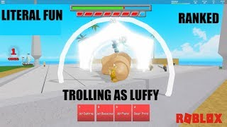 TROLLING AS LUFFY IN RANKED! Anime Battle Arena - France Roblox