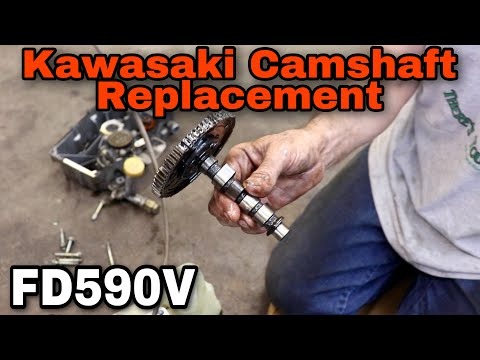 How To Replace The Camshaft On A Kawasaki FD590V Water Cooled Engine - With Taryl