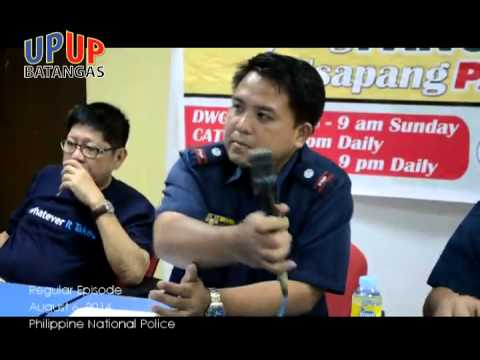 UPUP BATANGAS 2014 August 2 Regular Episode Philippine National Police
