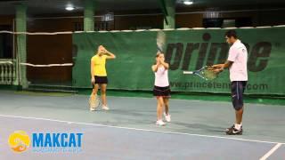 """Тренировка в Академии тенниса """"Максат"""""""