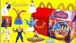 Opening Aladdin Movie McDonalds Happy Meal Toys Full Set