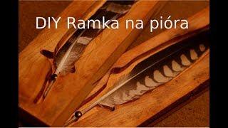 Drewniana Ramka na pióra ptaków drapieżnych - Sokolnictwo